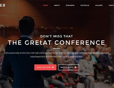 Aleb – Event & Conference Onepage WordPress Theme