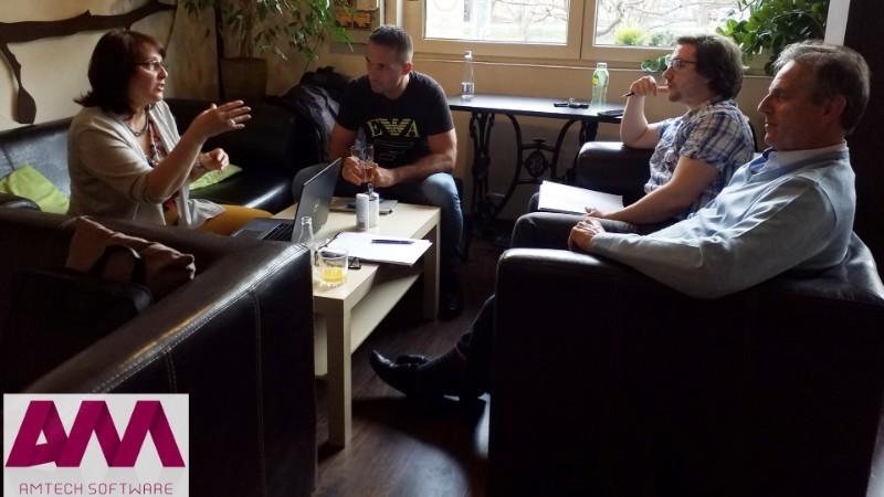 Amtech csapat kép, blog írás közben